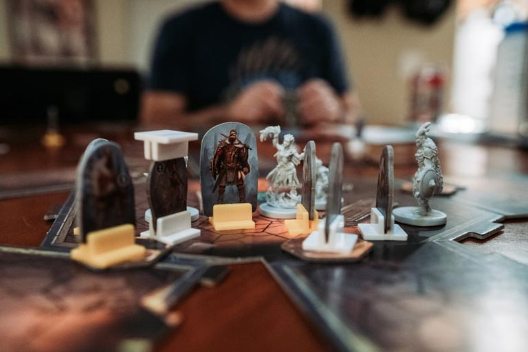 best single player board games gloomhaven figures and tiles